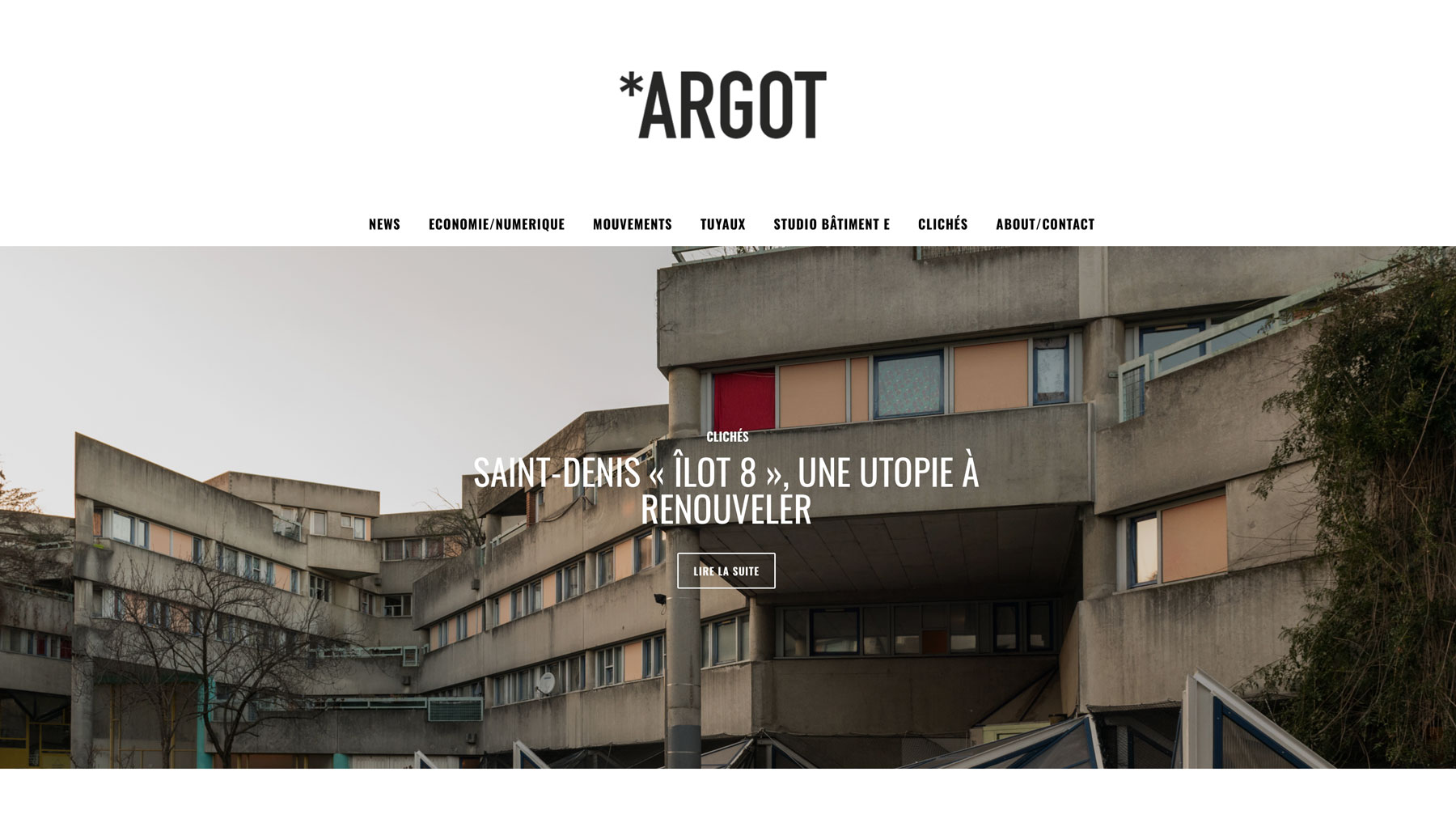 Tearsheet from Argot magazine